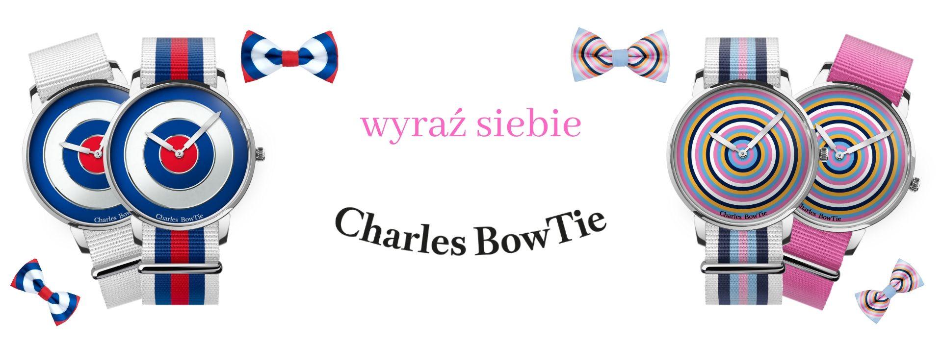 kolorowe zegarki Charles BowTie
