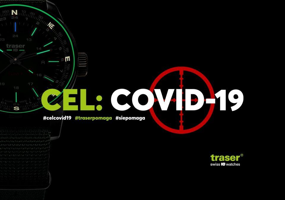 akcja cel:covid-19 organizowana przez traser polska